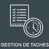 Icone grise représentant la gestion de tâches et des priorités avec TRAPEC